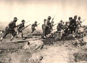 Army charge at Gallipoli - ANZAC Cove - Gallipoli