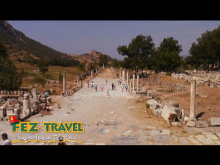 View our Kylie comes across all cultural again, and the emphasis this time is on ancient Ephesus! [0.51]