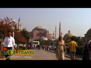 View our Kylie explores the sights and sounds of the Istanbul visiting such places as the Blue Mosque, St. Sophia, the famous Turkish Baths, Grand Bazaar and the delights of the Spice Bazaar! [1:23]